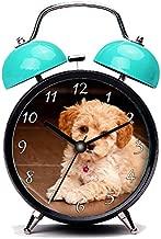 GIRLSIGHT3 Blue Alarm Clock,Dog Baby Maltese Poodle Mix or Maltipoo Puppy Dog Loud Alarm Clock Twin Bell Alarm Clocks with Nightlight