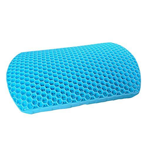 Teeyyui Cojín de apoyo para la espalda, almohada de cintura de descompresión, gel de panal para alivio del dolor lumbar, almohadilla de respaldo ortopédica para asiento de coche, oficina o casa