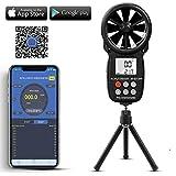 anemometro digitale portatile,bluetooth anemometro palmare app,digitale palmare lcd per misurare la velocità del vento,la temperatura e il freddo del vento con retroilluminazione e max/min