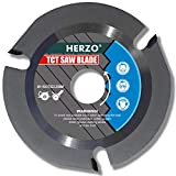 HERZO Grinder Wood Cutting Blade Disc 115mm, Carbide Carving Discs for Angle Grinder Woodcarving, Sculpting, Shaping, Grooving and Cutting