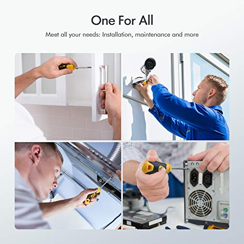 12 PCS Magnetic Screwdriver Sets with a Supper Magnet, OPOW Magnetic Screwdriver Sets with Case Includes Flat/Phillips/Torx Precision Screwdrivers for Repairing Home Improvement Craft