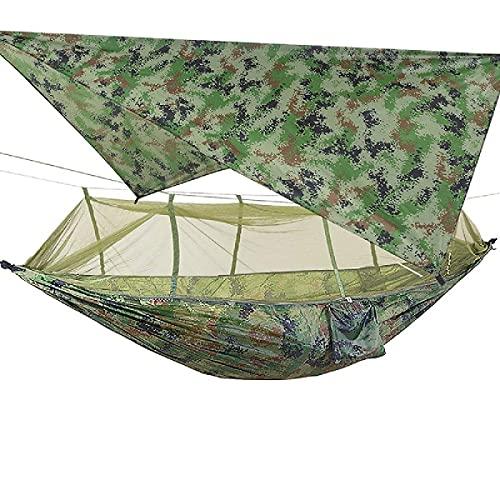 WYJRF Camping al Aire Libre portátil con mosquitera toldo Impermeable Tienda Colgante Columpio Cama para Dormir 1-2 Personas (Hamaca)
