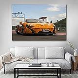 JIAJIFBH Cuadros de Pared 60x80cm sin Marco Clásico McLaren Orange Race Car Coche Deportivo Pintura en Lienzo Arte de la Pared Carteles y Sala de Estar Decoración del hogar