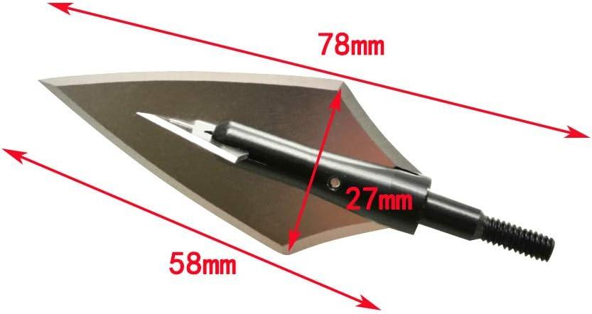 SHARROW 6pcs Tiro con Arco Punta de Flecha de Caza Broadheads 144 Grains 160 Grains con Broadheads Box para Flechas de Carbono de Ballesta