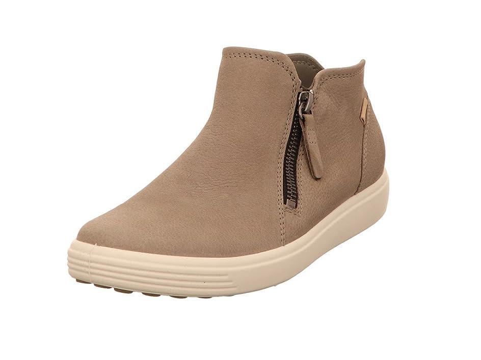 フィラデルフィア有毒眠っているECCO(エコー) レディース 女性用 シューズ 靴 スニーカー 運動靴 Soft 7 Low Cut Zip Bootie - Warm Grey/Powder [並行輸入品]
