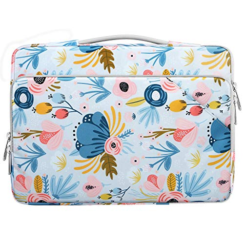 MoKo Laptop Carrying Sleeve Bag, Protective Accessory Case Fits with Macbook Pro 13.3' 2020/2009-2012, Macbook Air 13.3' 2020 / Air Retina 13.3' 2018, iPad Pro 12.9 2021/2020/2018, Summer Blue