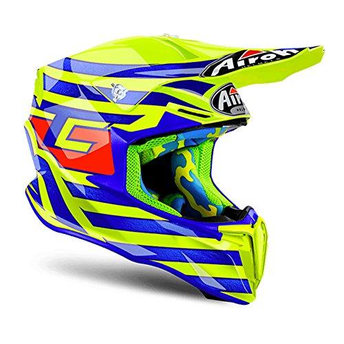 Airoh Twist Cairoli Qatar giallo–Casco da motocross Motox Full Face moto