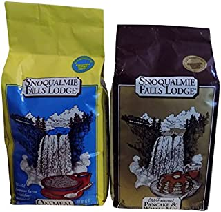 Snoqualmie Falls Lodge Bundle of 2 Oatmeal and Pancake Waffle Mix