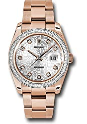 Everose Gold Case Diamond Bezel with 60 Baguettes Dial Watch