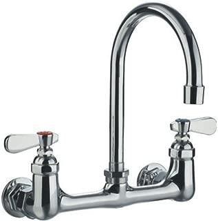 Whitehaus WHFS9814-P4-C  1 2-Handle Laundry Faucet, Polished Chrome