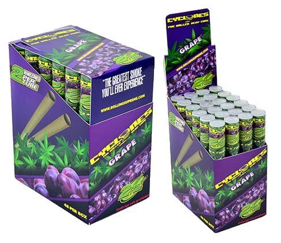 Cyclones Grape Flavored Pre-Rolled Hemp Wraps (Full Box, 48 Wraps)