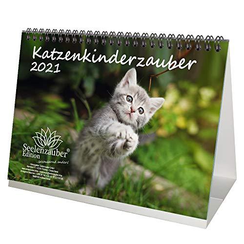 Katzenkinderzauber DIN A5 Tischkalender für 2021 Katzenkinder Katzenbabys - Seelenzauber
