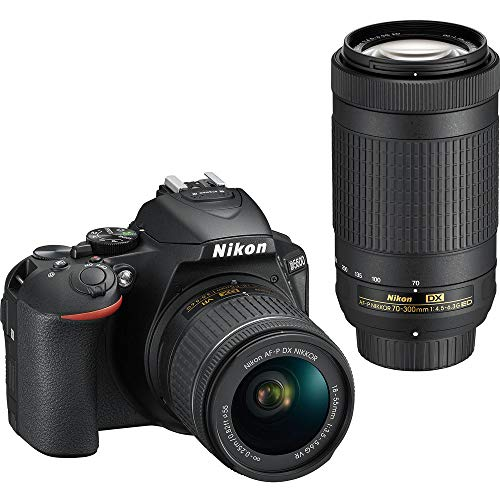 Nikon D5600 Digital SLR 18-55 mm f/3.5-5.6 G VR and AF-P DX NIKKOR 70-300 mm f/4.5-6.3 G ED (Black)