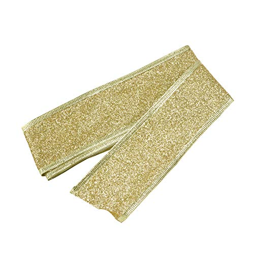 Rosenice glitter Craft Ribbon wedding decorazioni per albero di Natale ornamenti (oro)