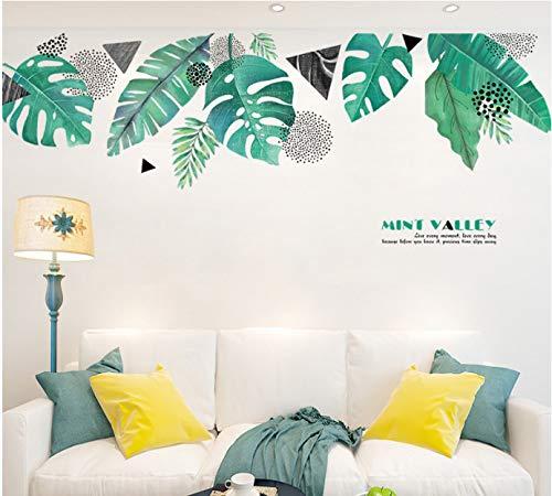 Tv Fond Stickers Muraux Auto-adhésif Salon Canapé Anti-sale Chevet Chambre Décoration Chambre Disposition Plume Stickers Muraux 78CM * 211CM Mint Valley