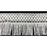 Flecos de pasamanería tapicería y mantas de alto 10 cm - B