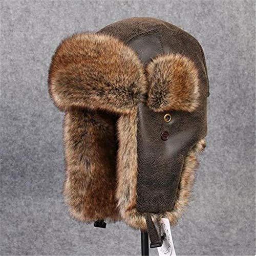 XCLWL Russische Hoed Bomber Hoeden Man Winter Hoed Zwart Dikke Warm Plus Mens Hoed Met Oor Flaps Weerstaan Sneeuw