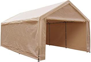 Abba Patio Extra Large Heavy Duty Carport with Removable Sidewalls Portable Garage Car..