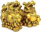 Accesorios Para El Hogar Decoración De Feng Shui Coleccionable Un Par De Estatua China De Chi Lin / Qilin / Kylin, Protegerse De La Energía Maligna, Atraer Riqueza Y Buena Suerte, La Mejor Decoración