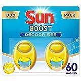 Sun, Désodorisant Pour Lave-Vaisselle, Expert Odeur Contrôle, Parfum Citron, Efficace jusqu'à 60 lavages, Duo Pack