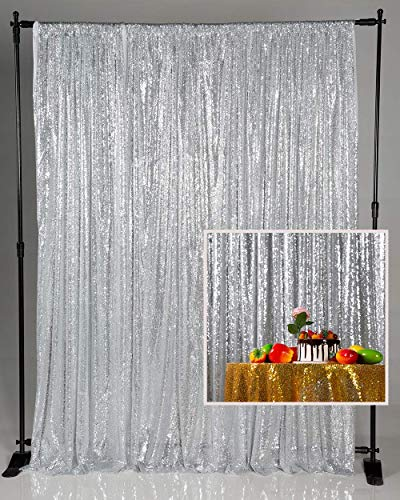 PFMY.DG Sequin Backdrop Rose Gold Sequin Fabric Backdrop Curtain for Wedding Party Decoration Glitter Photo Booth 4x7ft / 1.25x2.2m