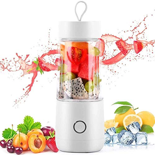 The Electric Juicer Is Multifunctional And Easy To Clean. BPA-free Juicer Cup Is Suitable For Vegetables And Fruits Juicer U Is Suitable For Home, Travel And Fitness (Color : White)