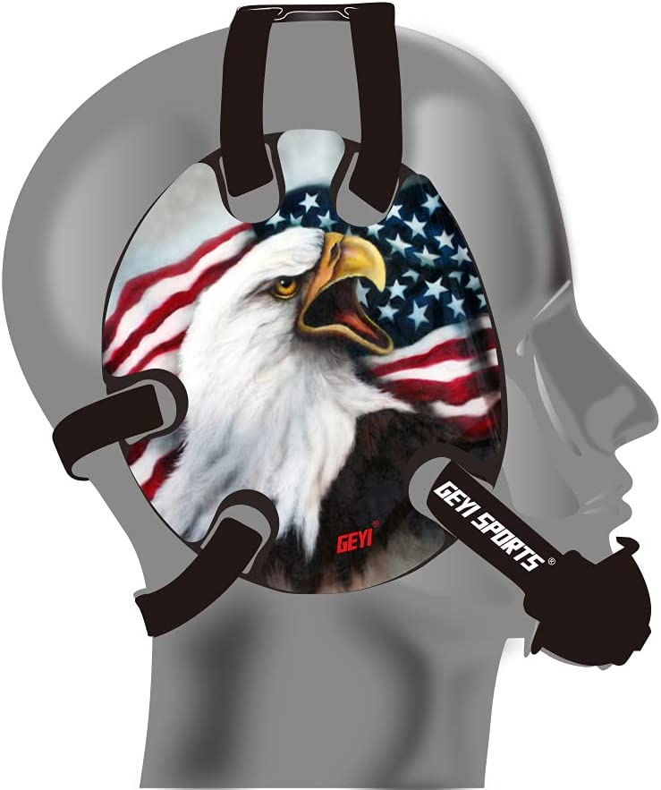 Geyi Wrestling Headgear with Popular overseas USA All stores are sold Eagle Decals Bald 1