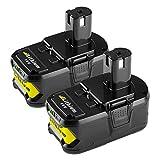 [2 Packs] Powilling 18V 5,0Ah Li-ion Remplacement de Batterie Pour Ryobi 18V ONE+...