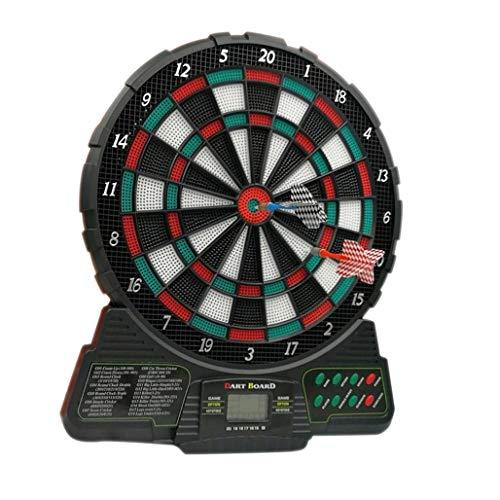 DPPAN Elektronische Dartscheibe Dartboard, LCD-Anzeige Anzeigers 18 Spielen 159 Varianten enthält 6 Dartpfeile 18 Soft-Tipps 8 Spieler, Batterieversorgung,Multicolor