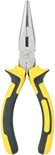 DOWELL 6 Inch Long Nose Pliers with Wire Cutter Nickel Chromium Steel Construction..