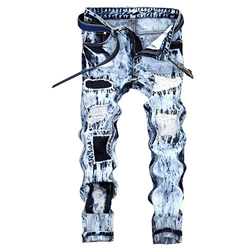 FOMANSH ジーンズ メンズ デニムパンツ ヴィンテージ風 刺繍 スキニー パンツ