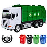 Izzya Remote Control Garbage Truck, 2.4GHz Electric Environmental Protection Sanitation Vehicle Toy Car with...