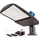 CINOTON LED Parking Lot Light 200W with Dusk to Dawn Photocell, Waterproof Commercial Large Area Lighting 28000lm(140LM/W) 5000K, Outdoor LED Shoebox Area Lighting 500W CFL Equivalent for Pole Mount