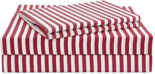 red and white sheets - 2