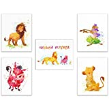 Summit Designs Lion King Disney Watercolor Art Wand Prints-