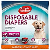 Simple Solution True Fit Disposable Dog Diapers for Female Dogs | Super Absorbent with Wetness Indicator