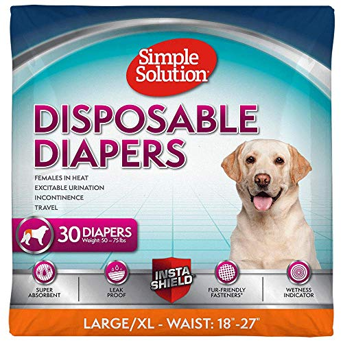 Simple Solution True Fit Disposable Dog Diapers for Female...