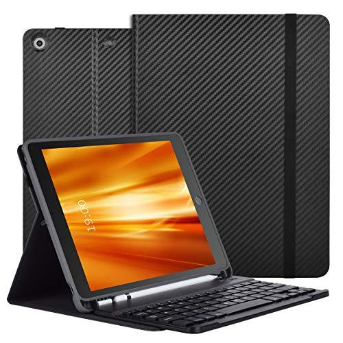 CRUBON 10.2 iPad Keyboard Case With Apple Pencil Holder