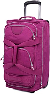 SMLCTY Trolley Case,carry On Luggage,carryon Luggage With Spinner Wheels,Practical And Beautiful Pull Rod Box Nylon Travel Bag, 20 Inches (Color : Fuchsia)