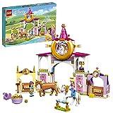 LEGO 43195 Disney Establos Reales de Bella y Rapunzel, Juguete de Construcción con Mini Muñecas y Caballos