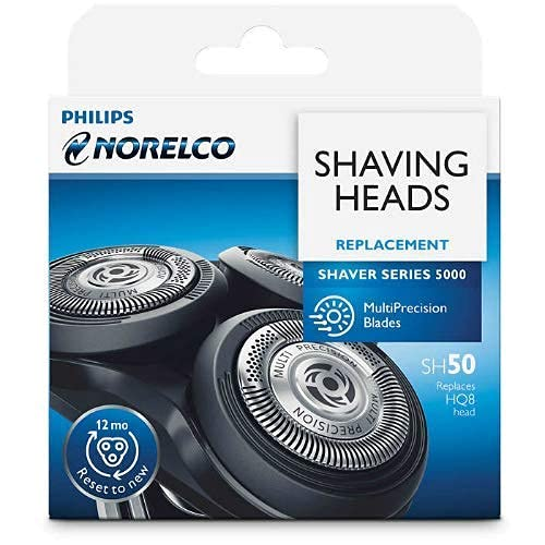SH50/52 Replacement Heads for Philips Norelco Shaver series 5000, AquaTouch and PowerTouch,MultiPrecision Blades ,Easy Cut and Installation.