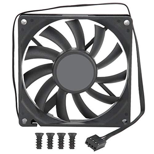 Ventilador del radiador de la CPU: ventilador de enfriamiento de alto rendimiento, enfriador de PC de enfriamiento de 4 pines PWM Regulación de velocidad de 12 V Computadora de escritorio ultra delgad