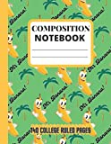 Composition Notebook College Ruled: Cute and Fun Banana Pattern Design, Mr. Banana College ruled Composition Book, blank lined paper, great for school children and college students, 8.5 x11, 140 pages