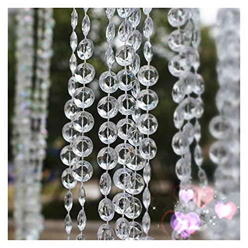 DUNRU Cortinas De Borla 10m / Lote AB Color TRANPARENTE Beads Acrílico Decoraciones de Fiesta de Bodas Decoratio Diamond Crystal Guirnalda Colgante Luces Cortina Cortinas De Perlas