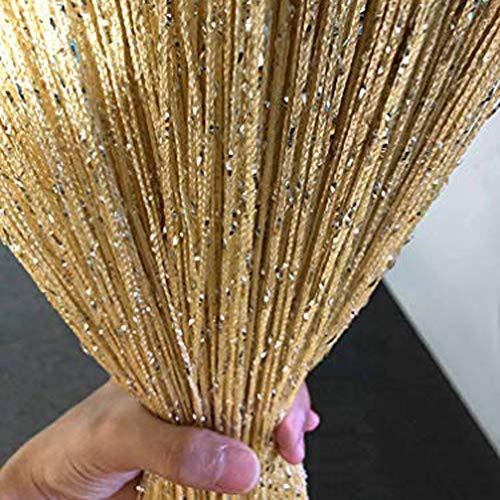 Vagasi 118x100 inch String Curtain Ventilate Glitter