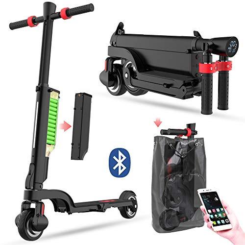 Patinete Electrico con Bluetooth, Patines Electricos para Adultos, Plegable, Monopatin Electrico con...