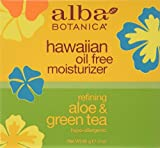 Alba Botanica Hawaiian Oil-Free Moisturizer, Aloe & Green Tea, 3 Fl Oz