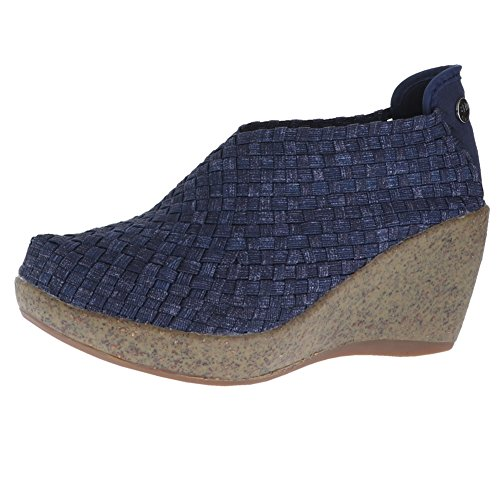 Bernie Mev Womens Sexy Round Toe Wedge Pumps, Jeans, Size 9.5
