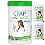 RespLabs Medical CPAP Mask Wipes - 110 Wipe Bottle - Unscented, Alcohol-Free Cleaner