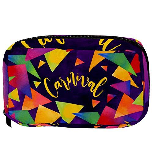 Bolsa pequeña para cosméticos, bolsa de maquillaje, bolsa de cosméticos, bolsa de viaje, neceser de viaje, neceser para lápices, monedero con cremallera, geometría rosa